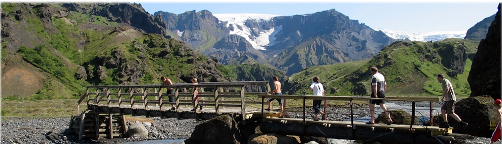 Thorsmork, surrounded by glaciers and volcanos
